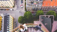 Free High Angle View Of City Street Royalty Free Stock Photography - 87661627