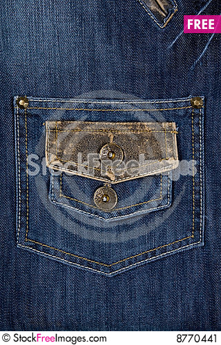Close-up of blue jeans Stock Photo