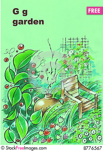 Free Alphabet, G-garden Royalty Free Stock Photography - 8776567