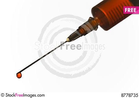 Blood syringe Stock Photo