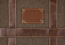Canvas And Leather Background Stock Image