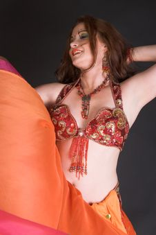 Free Belly Dancer In Red Stock Photo - 8770390