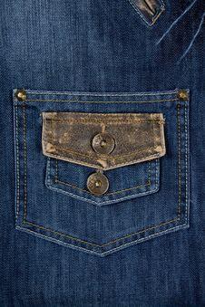 Free Close-up Of Blue Jeans Stock Image - 8770441