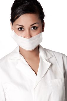 Free Beautifull Indonesian Nurse Ready For Examining Stock Images - 8771304