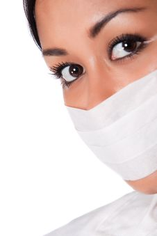 Free Beautifull Indonesian Nurse With Mouthcap Stock Photos - 8771363