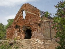 Old Destroyed Brick Building Stock Photos