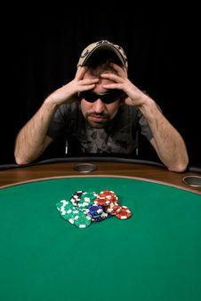 Free Casino Chips On Green Felt Stock Photo - 8773120