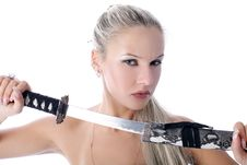 Free Woman With Katana Royalty Free Stock Images - 8773849