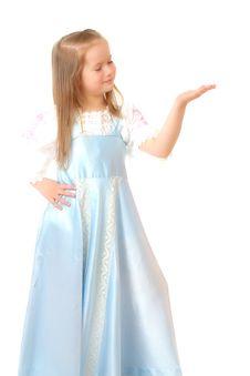Free Happy Girl Over White. Royalty Free Stock Photo - 8774245