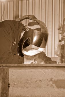 Free Welder At Work. Royalty Free Stock Image - 8774506