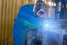 Free Welder At Work. Royalty Free Stock Photos - 8775068