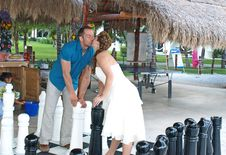 Wedding Chess Check Mate. Stock Photos