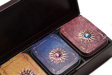 Free Box With Tea, Iron Packing Variant Four Stock Photo - 8775810