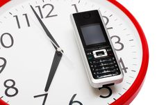 Free Phone And Clock Royalty Free Stock Images - 8776339