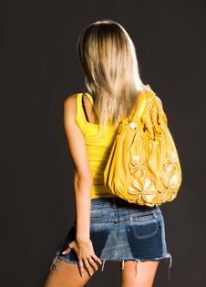 Free Girl With A Bag Stock Photography - 8776992