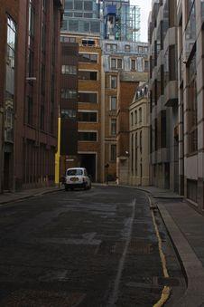 Lone Car On Street Stock Image