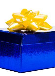 Free Blue Gift Box Stock Image - 8777451