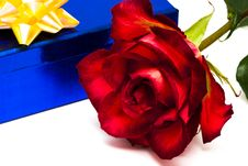 Rose And Gift Box Royalty Free Stock Images