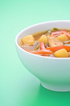 Chinese Chicken Soup Chicken And Vegetables Stock Photos