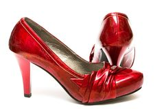 Free Red Womanish Shoes Stock Images - 8777674