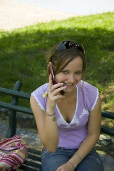 Girl On The Mobile Phone