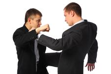Two Fighting Businessmen Stock Image