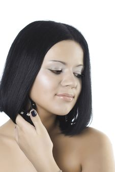 Young Beautiful Brunette Stock Photo