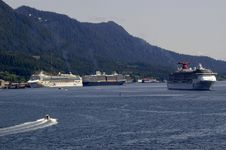 Free Ketchikan Cruise Ships Stock Photography - 8778392