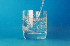 Free Clear Drinking Glass With Water Poured In Royalty Free Stock Photo - 87719845