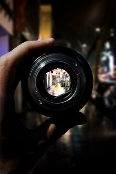 Free View Through Camera Lens Stock Image - 87781731