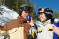 Free Couple Of Snowboarders Stock Photo - 8780290