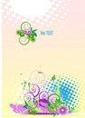 Free Grunge Vector Floral Design. Stock Photos - 8788993