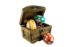 Free Four Easter Eggs In A Chest Stock Photos - 8781333