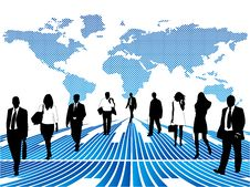 Free Business People And Map Royalty Free Stock Image - 8781356