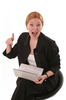 Free Surprised Woman With  Notebook Stock Image - 8782041