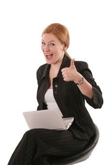 Free Happy Woman With Notebook Stock Photo - 8782100