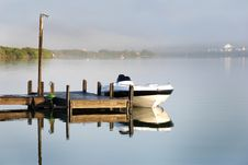 Free Boat On A Quiet Morning Stock Photography - 8784092