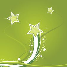 Free Swirly Star Green Background Royalty Free Stock Photography - 8784197