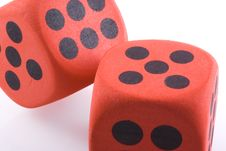 Red Big Dice. Stock Images