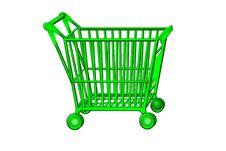 Free Shopping Cart Green Stock Photo - 8784370