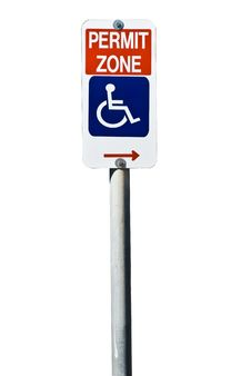 Free Disabled Parking Sign Royalty Free Stock Image - 8784756