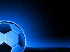Free Soccerball With Grass Horizon Line Stock Photography - 8784782