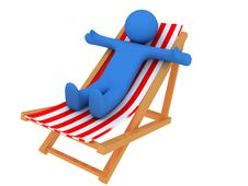 Free Person On Chaise Longue Royalty Free Stock Photo - 8784795