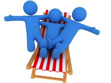 Free Persons On Chaise Longue Royalty Free Stock Photography - 8784937
