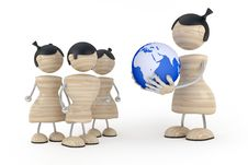 Woman Hold Globe In Hands Royalty Free Stock Photos