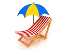 Free Chaise Longue And Umbrella Stock Image - 8785831