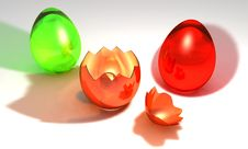 Free Colored Easter Eggs Stock Image - 8785911
