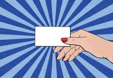 Free Hand Holding Card Royalty Free Stock Photography - 8785967