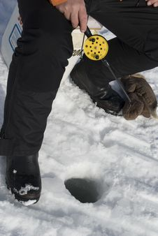 Free Ice Fishing Royalty Free Stock Photos - 8786368