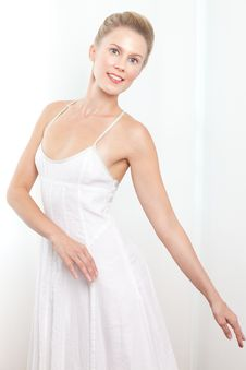 Portrait Of A Caucasian Blonde Ballerina Dancer Stock Photos